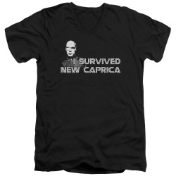 Image for Battlestar Galactica V Neck T-Shirt - I Survived New Caprica