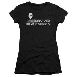 Image for Battlestar Galactica Juniors T-Shirt - I Survived New Caprica