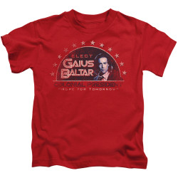 Image for Battlestar Galactica Kids T-Shirt - Elect Gaius Baltar