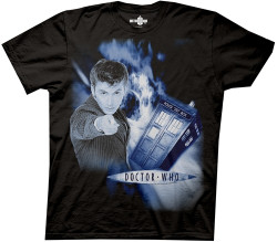 1c48521ab Image Closeup for David Tennant Doctor Who Space Vortex T-Shirt