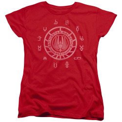 Image for Battlestar Galactica Womans T-Shirt - Colonies