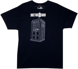 Image Closeup for Doctor Who T-Shirt - Linear Tardis