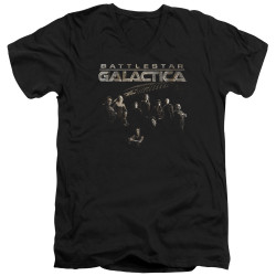 Image for Battlestar Galactica V Neck T-Shirt - Battle Cast