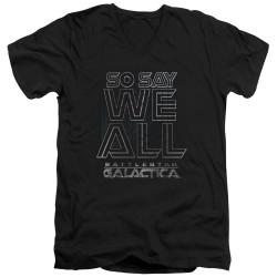 Image for Battlestar Galactica V Neck T-Shirt - Together Now