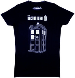 Image for Doctor Who Girls T-Shirt - Linear Tardis Girls T-Shirt
