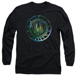 Image for Battlestar Galactica Long Sleeve Shirt - New Galaxy Emblem