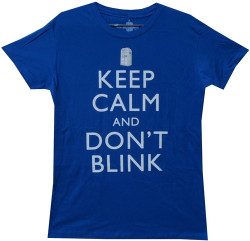 image for Doctor Who Girls T-Shirt - Keep Calm and Don't Blink Girls T-Shirt