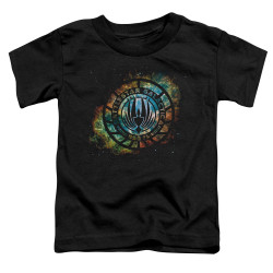 Image for Battlestar Galactica Toddler T-Shirt - Emblem Knock-Out