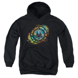 Image for Battlestar Galactica Youth Hoodie - Emblem Knock-Out