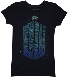 Image for Doctor Who Girls T-Shirt - Quote Tardis