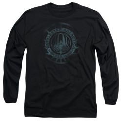 Image for Battlestar Galactica Long Sleeve Shirt - Faded Emblem