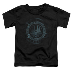 Image for Battlestar Galactica Toddler T-Shirt - Faded Emblem