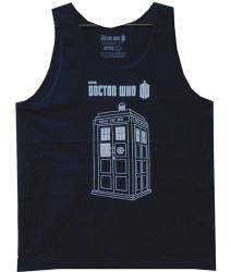 Doctor Who Tank Top - Linear Tardis