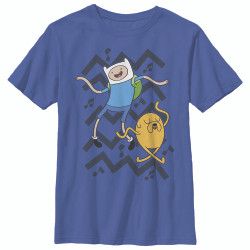 Image for Adventure Time Youth T-Shirt - Jake Finn Dance