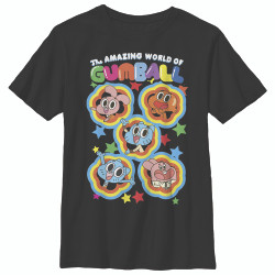 Image for Gumball Youth T-Shirt - Five Stars