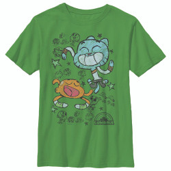 Image for Gumball Youth T-Shirt - Scribble Boys
