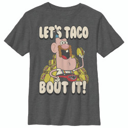 Image for Uncle Grandpa Youth T-Shirt - Taco Bout It