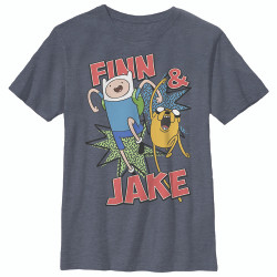 Image for Adventure Time Youth T-Shirt - Jake and Finn