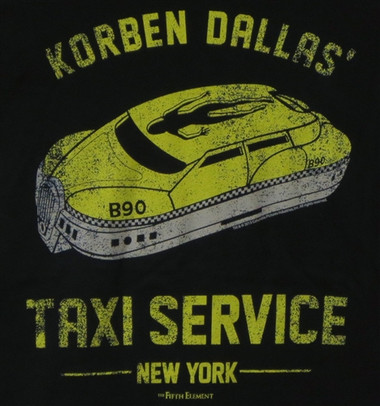 Image for The Fifth Element Korben Dallas Taxi Service Girls T-Shirt