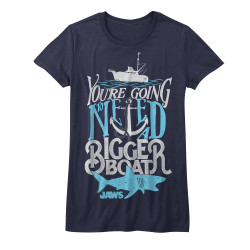 Image for Jaws Typography Girls T-Shirt