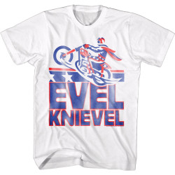 Image for Evel Knievel T-Shirt - Smeared