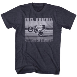 Image for Evel Knievel T-Shirt - Retro Daredevel
