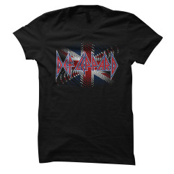 Image for The Def Leppard Union Jack Spiral Girls T-Shirt