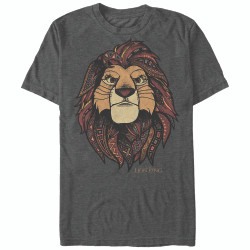 Image for The Lion King Ornate Heather T-Shirt
