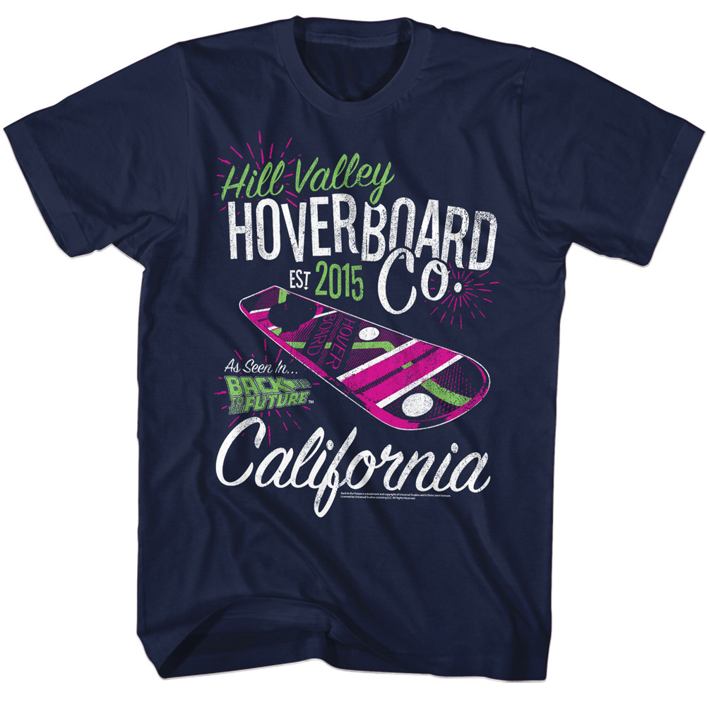 5c0b780be8a01 Back to the Future Hill Valley Hoverboard Co. T-Shirt - NerdKungFu
