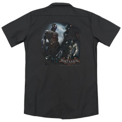 Image for Arkham Knight Dickies Work Shirt - Face Off
