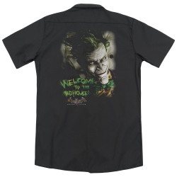 Image for Batman Arkham Asylum Dickies Work Shirt - Welcome to the Madhouse