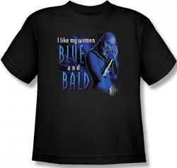 Image for Farscape Blue and Bald Youth T-Shirt