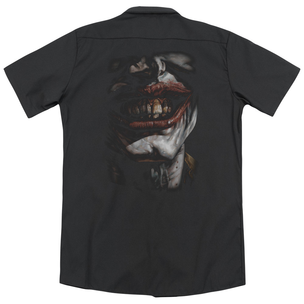 2d17320940ec17 Batman Dickies Work Shirt - Smile of Evil- NerdKungFu