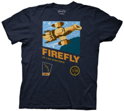 Image for Firefly T-Shirt - 8 Bit NES Video Game