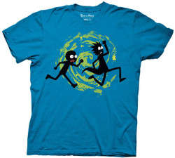 Image for Rick and Morty T-Shirt - Vortex Run