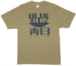 Image Closeup for Firefly T-Shirt - Blue Sun Accurate Logo