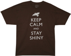 Image Closeup for Firefly T-Shirt - Keep Calm and Stay Shiny