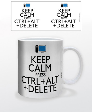 Keep Calm Press Ctrl Alt Delete Coffee Mug Nerdkungfu