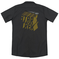 Image for Star Trek Dickies Work Shirt - 3D Logo