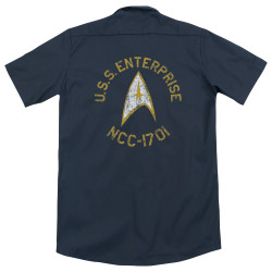 Image for Star Trek Dickies Work Shirt - Collegiate