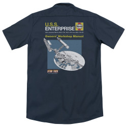 Image for Star Trek Dickies Work Shirt - Enterprise Manual