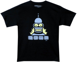 Image Closeup for Futurama T-Shirt - Bender Crtl Alt Shift Kill