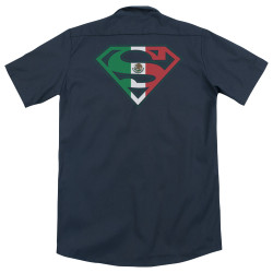 Image for Superman Dickies Work Shirt - Mexican Shield
