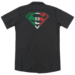 Image for Superman Dickies Work Shirt - Mexican Flag Shield