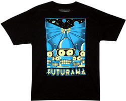Image Closeup for Futurama T-Shirt - Bender Propaganda