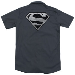 Image for Superman Dickies Work Shirt - Super Metallic Shield