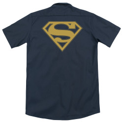 Image for Superman Dickies Work Shirt - Maize & Blue Shield