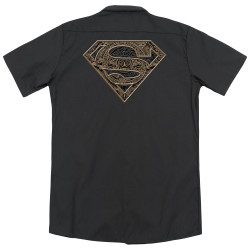 Image for Superman Dickies Work Shirt - Aztec Shield