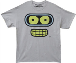 Image Closeup for Futurama T-Shirt - Bender Face