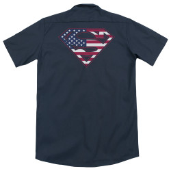 Image for Superman Dickies Work Shirt - U S Shield